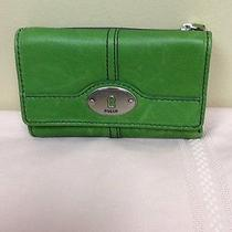 Fossil Wallet Green Nwot Photo
