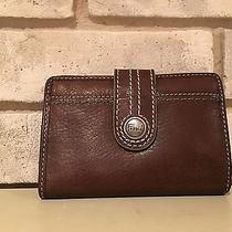 Fossil Wallet Id Wallet Leather Green Accents  Photo