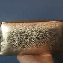 Fossil Wallet in Metallic Gold  Photo