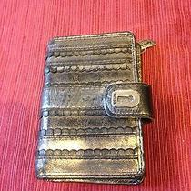 Fossil Wallet Metallic Silver Photo