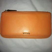 Fossil Wallet Peach Bi Fold Great Shape Cute Leather Photo