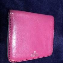 Fossil Wallet Women Leather Pink Photo