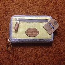 Fossil Wallet Women's Yellow and Grey With Birds Photo