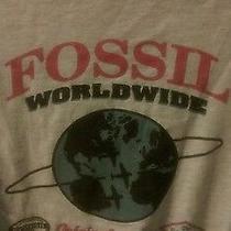 Fossil Watch Global Piolet T-Shirt Sz Men's M Grey Flight Wwii Wwi Usa Uk Jpn Photo