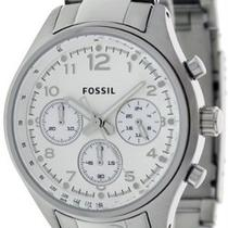 Fossil Watch Ladies Chronograph Mop Dial Flight Stainless Steel Ch2769 Free Gift Photo