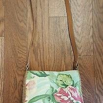 Fossil Weave Straw Floral Crossbody Bag Small  Photo