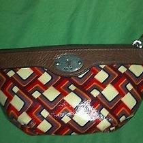 Fossil Wedge Cosmetic Bag Retro Design Photo
