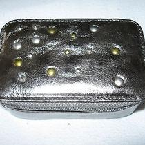 Fossil Winter Garden Pewter Leather Small Zippered Jewelry Case Photo