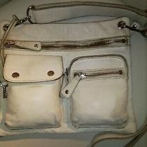 Fossil Winter White Pebbled Leather Crossbody Handbag Shoulderbag Purse Handbag Photo