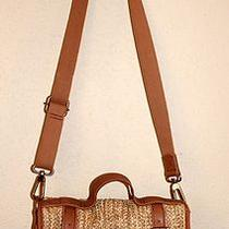 Fossil Womans Purse Straw Heather Hand Bag Cross Body Photo