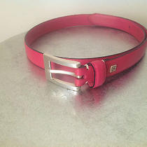 Fossil Womans Solid Pink Leather Belt Size Small  Photo