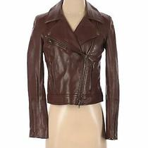 Fossil Women Brown Leather Jacket S Photo