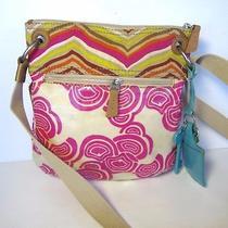 Fossil Women Handbag Cross Body Bag Tote Purse Fashion Multicolored  Photo