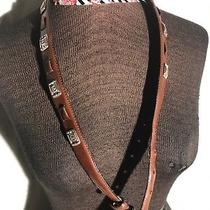 Fossil Women Medium Brown Leather Belt With Silver Accent Photo