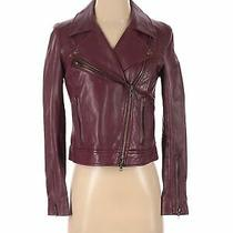 Fossil Women Red Leather Jacket S Photo