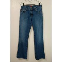 Fossil Women's 6 Regular Bandit Blue Bootcut Denim Jeans Pants Distressed Photo