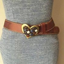 Fossil Women's Belt Jewel Heart Mosaic New  Photo