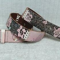Fossil - Women's Belt - Multi Color Flower Hippie Boho Style - Leather - Size S Photo