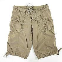 Fossil Women's Bermuda Shorts Size 4 Beige  Photo