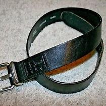 Fossil Women's Black Leather Belt Size Small Width 1 1/2