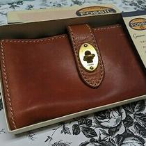 Fossil Women's Brown Espresso Austin Clutch Wallet Leather Photo