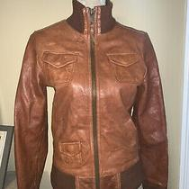 Fossil Womens Brown Real Leather Jacket Size Small Photo