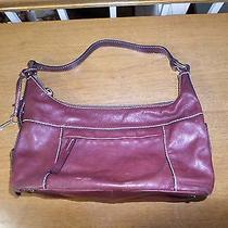 Fossil Women's Chocolate Brown Leather Shoulder Bag Hobo Purse Photo