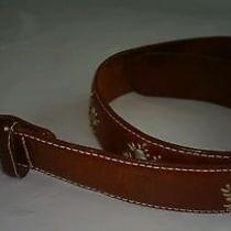 Fossil Women's Embossed Patchwork Brown Leather Belt S Photo