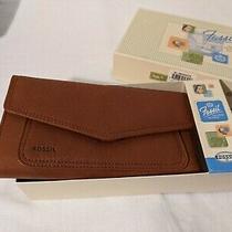Fossil Women's Emory Genuine Leather Wallet Espresso Brown Nib Photo
