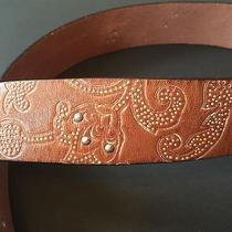 Fossil Women's Genuine Leather Brown Belt Butterflies Size S Photo