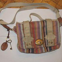 Fossil Women's Handbag Canvas Shoulder Shoulder Handbag Photo