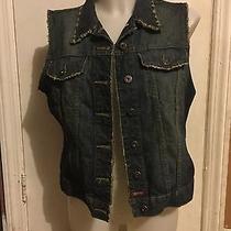 Fossil Women's Jean Vest - Size L Photo
