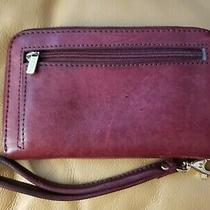 Fossil Women's Leather Wristlet Clutch Wallet Zip Around Photo