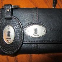Fossil  Women's Maddox Black Leather Wallet  & Key Ring Photo