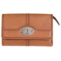 Fossil Women's 'Marlow' Brown Leather Multifunction Wallet Photo