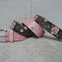 Fossil - Women's Multi Color Floral Print Vintage Leather Fashion Belt - Size M Photo