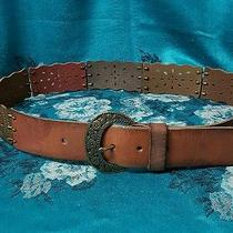 Fossil Women's Multi-Colored Leather Belt Sz. Small. Excellent Condition  Photo