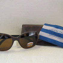 Fossil Women's Oversized Polarized Sunglasses Brown Nude/jhrp-Vw Authentic Photo