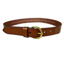 Fossil Women's Perforated Lace Leather Belt S Brown Photo