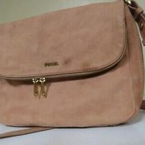 Fossil Women's Preston Crossbody Travel Bag Pink Blush Leather Medium  Photo
