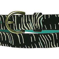 Fossil Women's Printed Zebra Print Black White Belt Size Large Photo