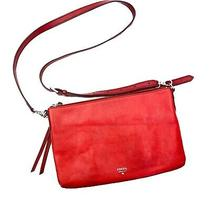 Fossil Women's Red Crossbody Zip Closure Purse in Great Condition Photo