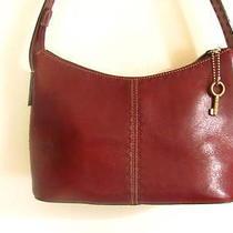 Fossil Women's Red Genuine Leather Purse Handbag Photo