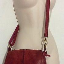 Fossil Women's Red Leather Crossbody Purse Bag Travel Summer Festival  Photo