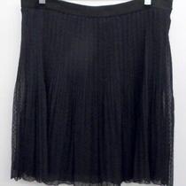 Fossil Women's Skirt Navy With Black Dots Light Weight Size Medium Euc Photo