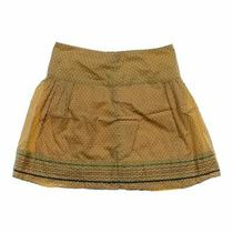 Fossil Women's Skirt Size 4  Yellow  Cotton Photo