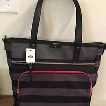 Fossil Women's Striped Tote Nwt Photo