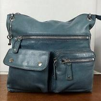 Fossil Women's Sutton Leather Messenger Cross-Body in Teal Photo
