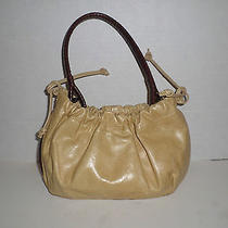 Fossil Women's Tan and Brown Faux Leather Small Handbag Super Cute Photo