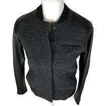 Fossil Womens Tweed Leather Jacket Size Xs Photo